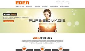 Webdesign und Programmierung für Ziegelwerk Eder
