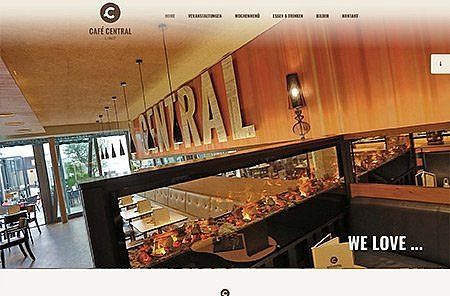 OnePage WebDesign Cafe Central Linz