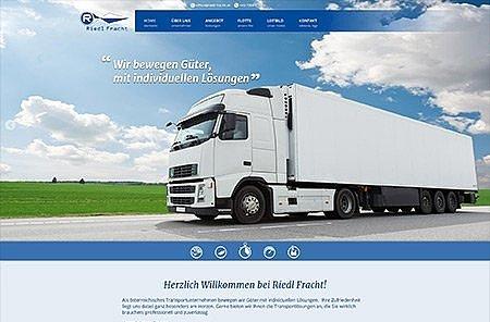 Webdesign Transportunternehmen Österreich